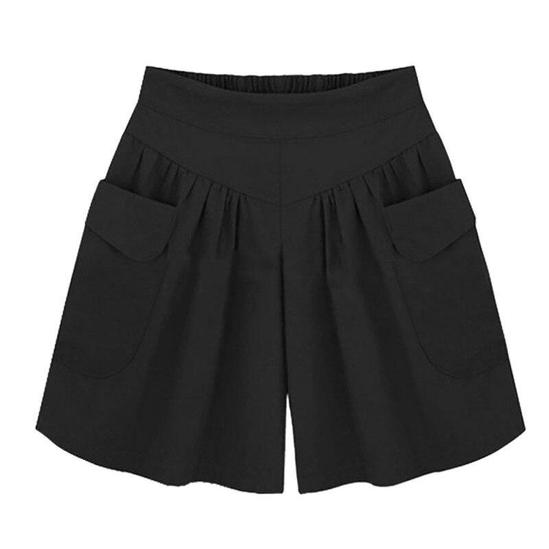Women Summer Casual Loose Ladies   Shorts   Women High Waist   Short   Wide Leg   Shorts   5XL