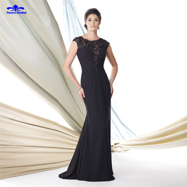 Straight Evening Dresses 2017 O-neck Sleeveless Zipper Back Sweep Train Chiffon Pleat Sexy Prom Dress Long Vestidos De Festa