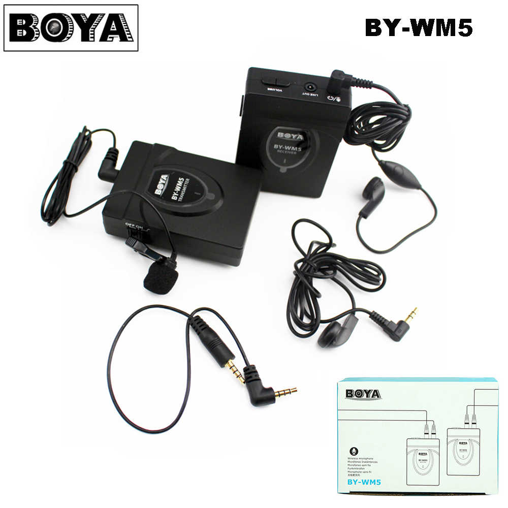 микрофон boya by wm5 - BOYA BY-WM5 Pro Wireless Lavalier Lapel Microphone System for DSLR Camera Camcorders Audio Recorder