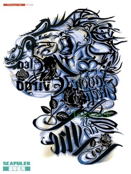 Waterproof Temporary Tattoo Sticker on shoulder large new school english tatto stickers flash tatoo fake tattoos for men