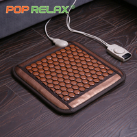 POP RELAX Korea health seat mattress tourmaline germanium heating pad mat far infrared physiotherapy ion stone thermal mattress