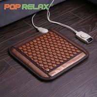 POP RELAX Korea health seat mattress tourmaline germanium heating pad mat far infrared physiotherapy ion stone thermal mattress