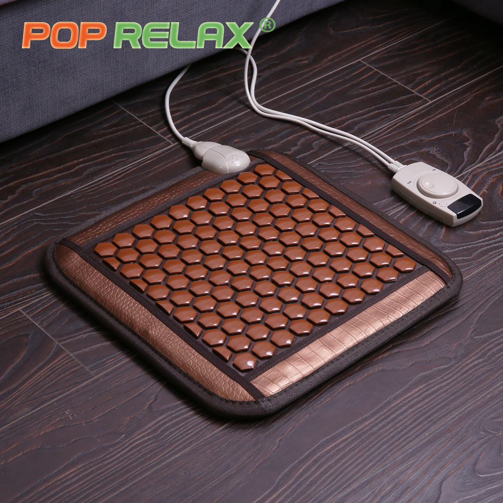 POP RELAX Korea health seat mattress tourmaline germanium heating pad mat far infrared physiotherapy ion stone thermal mattress pop relax healthy mattress tourmaline jade germanium ion far infrared heating therapy stone massage mat thermal sitting mattress