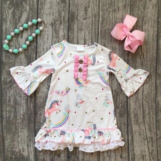 baby girls unicorn dress clothing girls summer unicorn dress girls summer  milksilk soft dress boutique dress with accessoreis 545971d2d2
