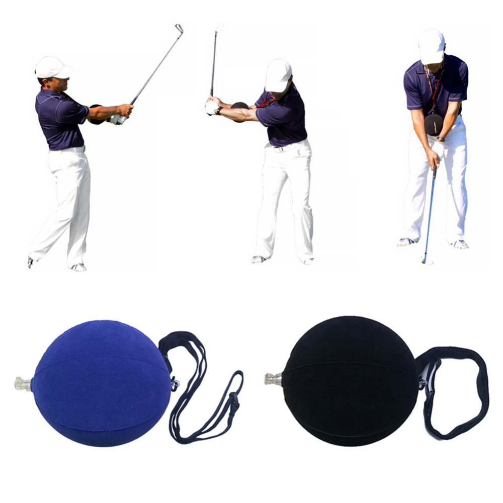1 Piece Inflatable Ball Outdoor Sports Golf Training Aid Golfing Posture Correction Training Supplies Aid Assist Tool