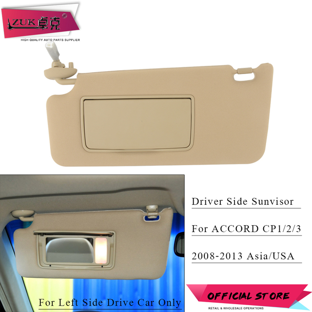 ZUK Driver Side Sunvisor Sunshade Sun Shield Antidazzle Visor For HONDA  ACCORD 2008 2009 2010 2011 2012 2013 Beige Gray Color e7681d35ce2