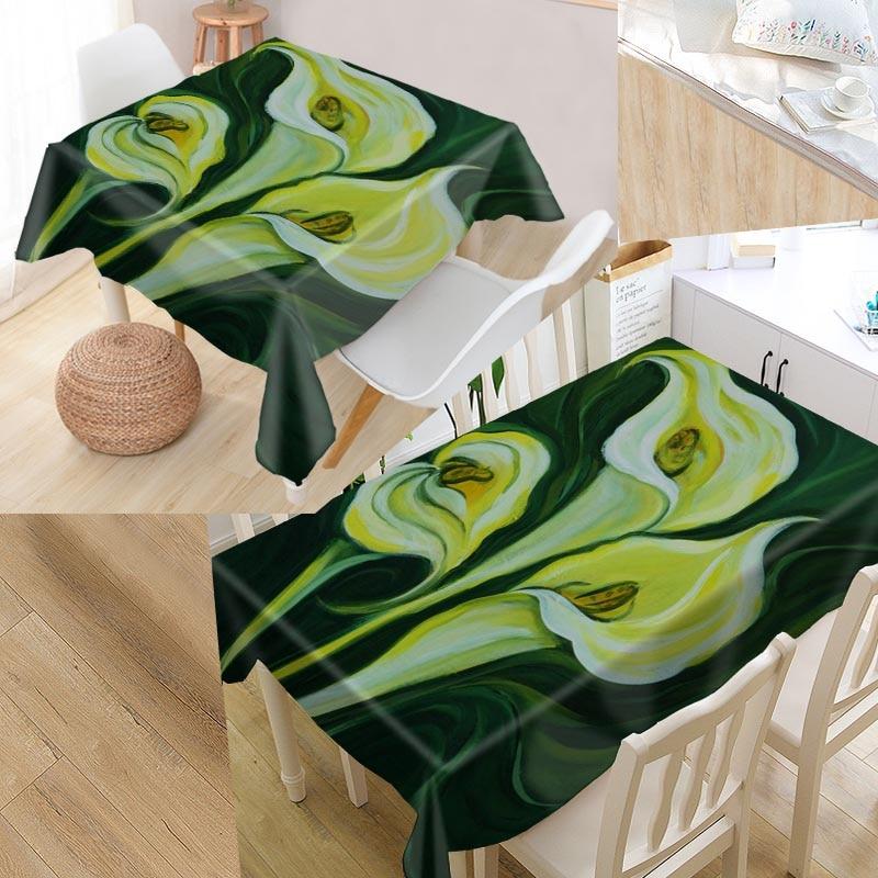 Calla Painting Custom Table Cloth Oxford Print Rectangular ...