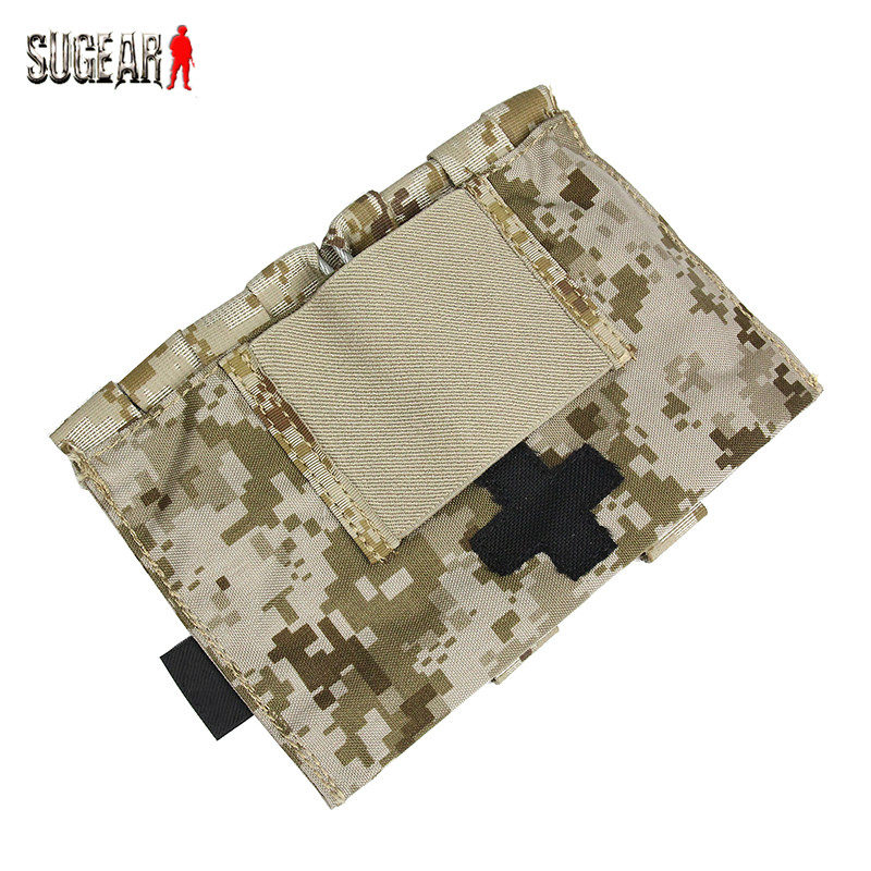 Outdoor Portable Emergency First Aid Medical Pouch Tactical Survival Equipment EDC Utility Bag Cordura Quick-drying Soft Pocket