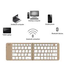 Landas Universal Folding Keyboard Bluetooth Wireless For Apple Android Sunsamg Xiaomi Huawei Foldable Keyboard For Traveling цена и фото