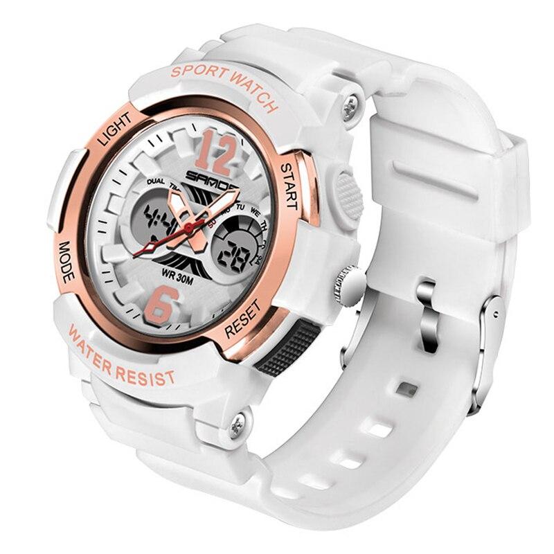 SANDA 2018 Uhr Frauen Marke Luxus Mode Lässig Quarz Uhren Sport Dame uhren mujer LED Digital Armbanduhr Mädchen Uhr Neue