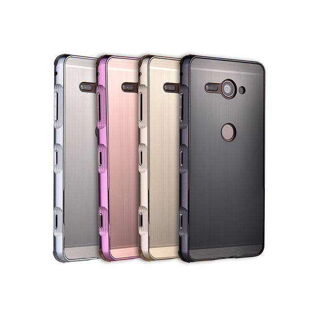 US $9 68 |For Sony Xperia XZ2 Compact H8324 Case Metal Aluminum Bumper for  Song XZ2C Brushed PC Back Cover For Sony XZ2 Compact Case-in Fitted Cases