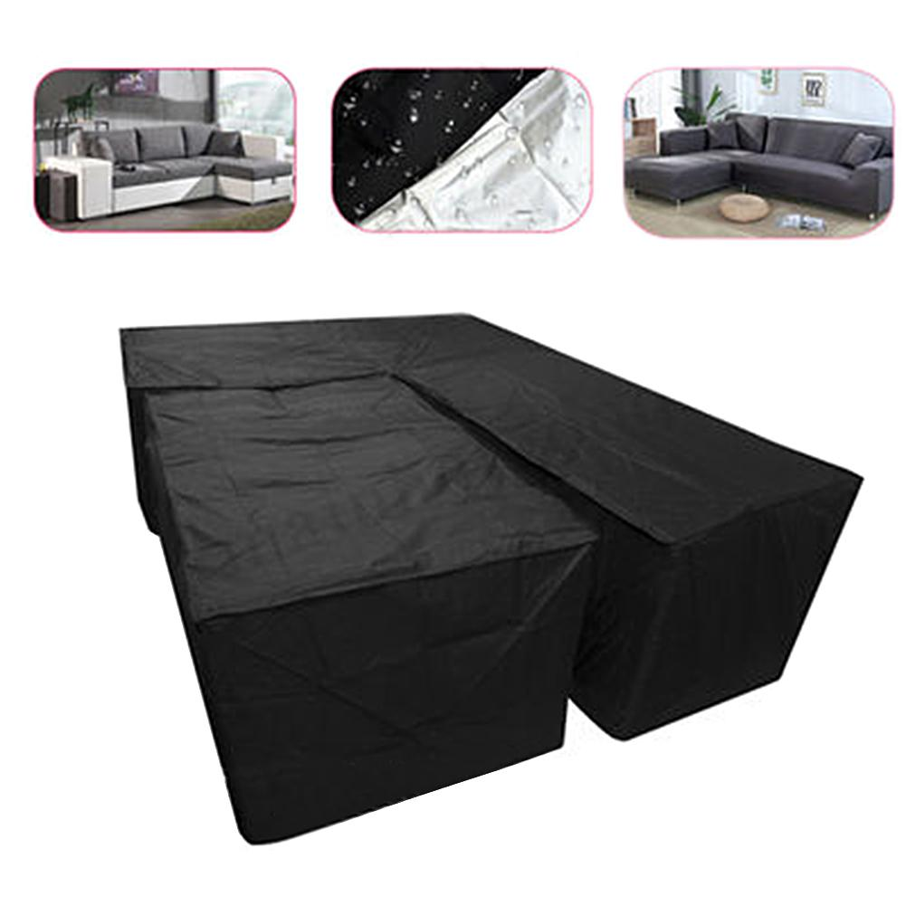 Image 5 - New 2Pcs Waterproof Dustproof L Shape Dust Cover Cube Corner Furniture Sofa Rattan Cover For Outdoor Garden Easy To Clean-in All-Purpose Covers from Home & Garden