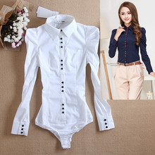 Женский боди с длинным рукавом, Облегающая белая блузка, рубашка для офиса, для женщин, для работы, формальные рубашки, модные, Осень-зима, размера плюс