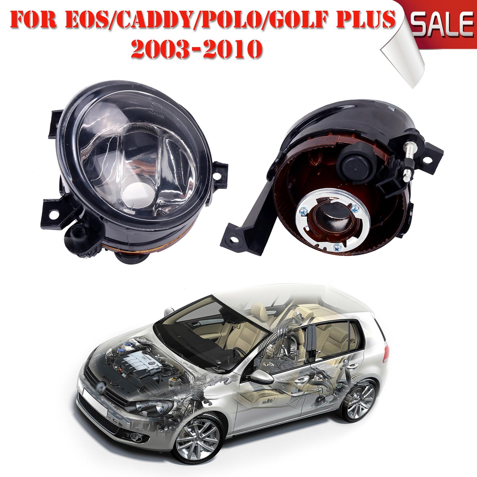 ФОТО 2x Fog Lights Housing Foglamps Set For VW Caddy III Eos Golf Plus Polo Tiguan Touran Wagon Replacement Car Styling #P324