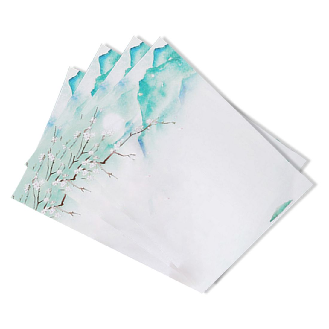 Affordable 40pcs Romantic love letter, student news envelopes, Chinese wind retro beautiful scenery envelope,green