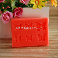 3D Silicone mold mould Creative DIY 6 butterflies shaped Cake Tools kitchen accessories Free shipping