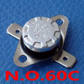 ( 100 pcs/lot) 60C KSD301 Normally Open Thermostat, Temperature Switch, NO 60 Celsius, Bimetal Disc.