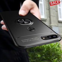 Honor 9 Lite Case For Huawei Car Holder Stand Magnetic Bracket Cover Ring Bumper Back