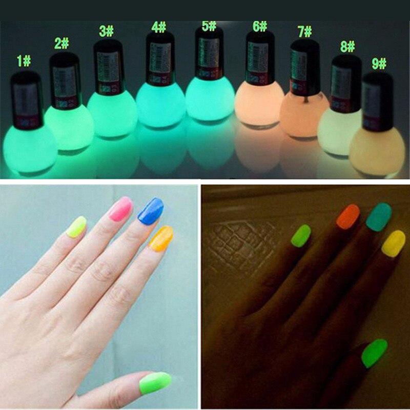 Brand Non-toxic Neon Fluorescent Luminous Gel Nail Polish Matte Nail Polish Candy Transparent Nail Varnish Lacquer NailArt