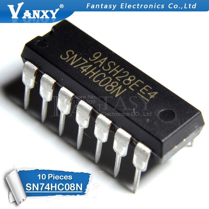 10 PCS SN74HC08N DIP14 SN74HC08 DIP 74HC08N 74HC08 DIP-14 yeni ve orijinal IC10 PCS SN74HC08N DIP14 SN74HC08 DIP 74HC08N 74HC08 DIP-14 yeni ve orijinal IC