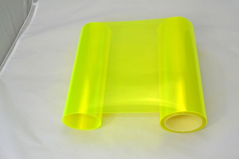 Image 5 - Fluorescent yellow Auto Car Headlight Tint Vinyl Film Sheet Sticker Car Smoke Fog Light Headlight 0.3*10m Roll-in Car Stickers from Automobiles & Motorcycles