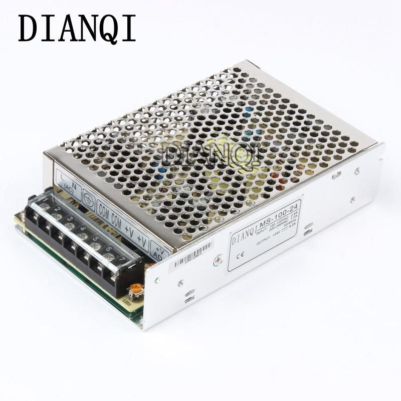 все цены на DIANQI power supply power suply unit 100w 24v 100W 24V 4.2A  mini size din led  ac dc converter ms-100-24