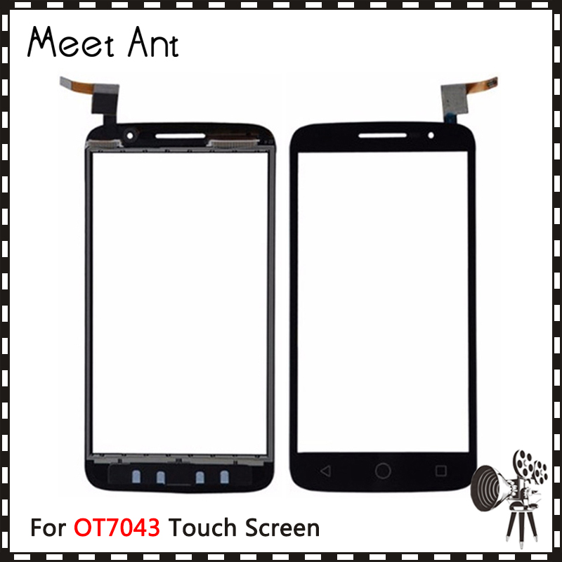10pcslot High Quality 5.0 For Alcatel One Touch POP 2 7043 OT7043 Touch Screen Digitizer Sensor Outer Glass Lens Panel