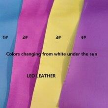 1 шт. A4 размер(21x29 см) свет реактивной Ткань Кожа из искусственной кожи УФ кожи, изменение цвета кожи для DIY Швейные H28