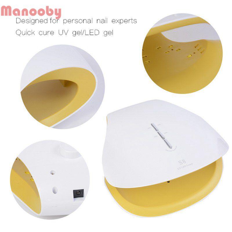 Manooby EU/US Plug 48 W lampe à ongles à Induction intelligente LED Machine de photothérapie ongles sèche outils mignon lampes LED nouvelle mode