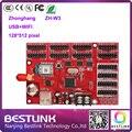 Zh-w3 zhonghang cartão de controle de led 128*512 pixels wifi cartão de controlador de led para p5 p10 p16 ao ar livre conduziu a exposição da tela táxi topo sinal