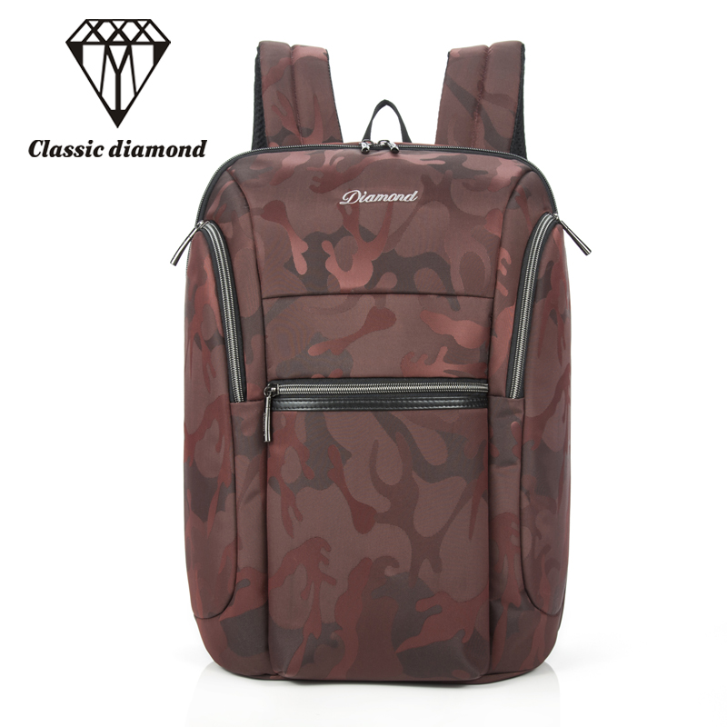 Classic Diamonds Brand Red Camouflage Backpack Women Shoulder Bags  Large Capacity Students Book Bag Suitable For 15inch Laptop women s classic backpack