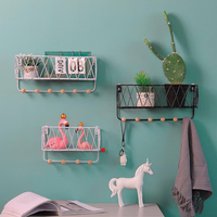 Creative Nordic style Wall pendant Decoration iron Shelf decorative wall shelf home organization and storage room organizer