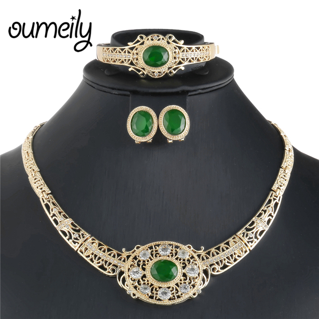 Cz Wedding Sets.Us 4 99 Luxury Cz Bridal Jewelry Sets Indian Blue Crystal Dubai Wedding Jewelry Sets African Beads Costume Round Women Necklace Set In Jewelry Sets