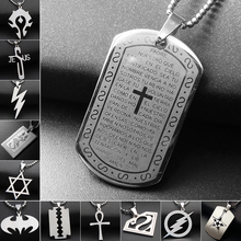 Phesee (Only a Pendant)12 Style Stainless Steel Jesus Cross Lightning Necklaces Pendants For Men & Women Jewelry