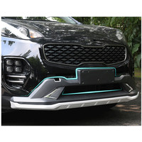 For KIA Sportage 2016 2017 High Quality New ABS Front+Rear Bumpers Car Accessories Car Bumper Protector Guard Skid Plate 2pcs