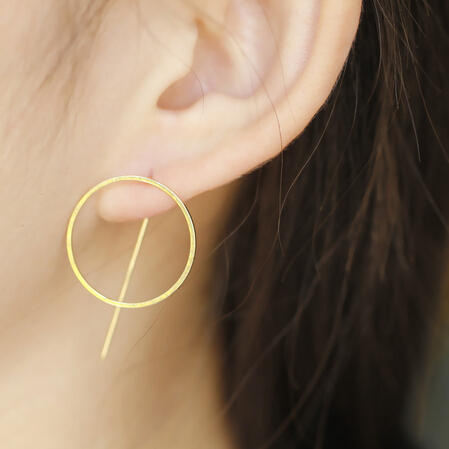 New Punk Style Cool Metal Round Studs Earrings