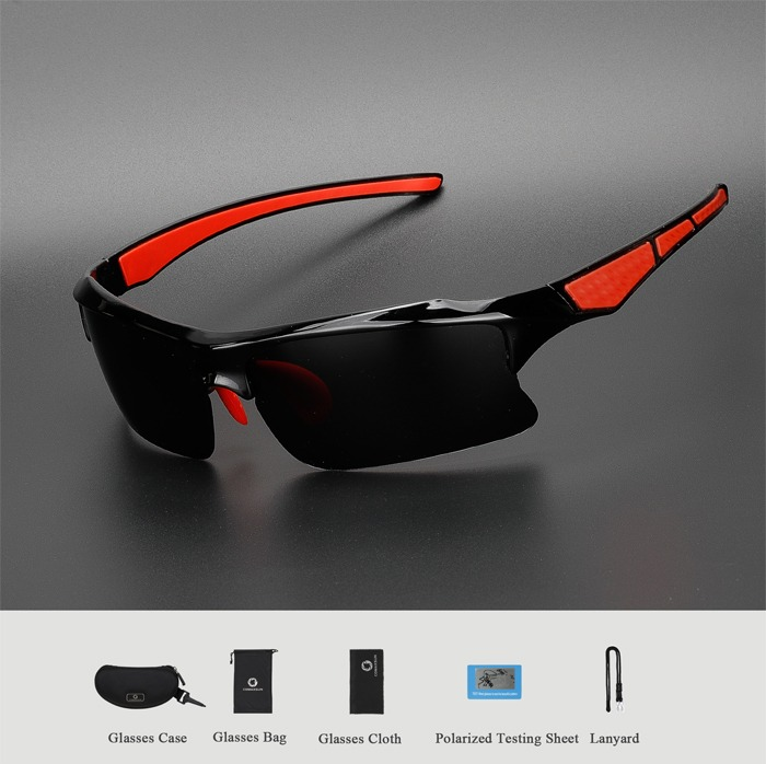 HTB1B9HwK8LoK1RjSZFuq6xn0XXaZ Professional Polarized Cycling Glasses Bike Bicycle Goggles Outdoor Sports Sunglasses UV 400 4 Color