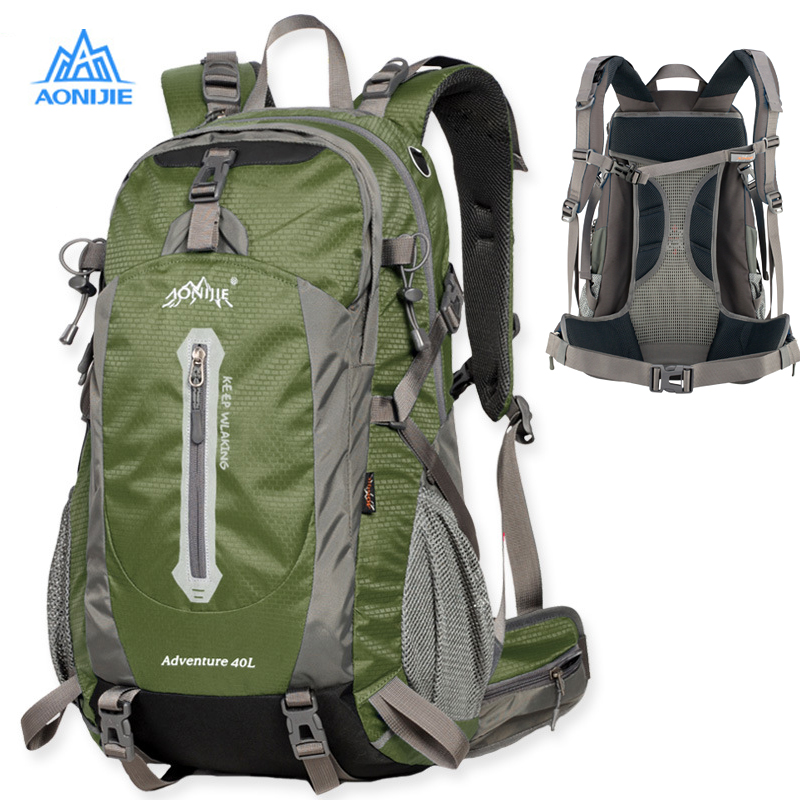 2108 upgraded AONIJIE Outdoor Sport Camping shoulder bags Travel Backpack Bicycle Hiking Bags Waterproof Backpacks 40L 50L 2108