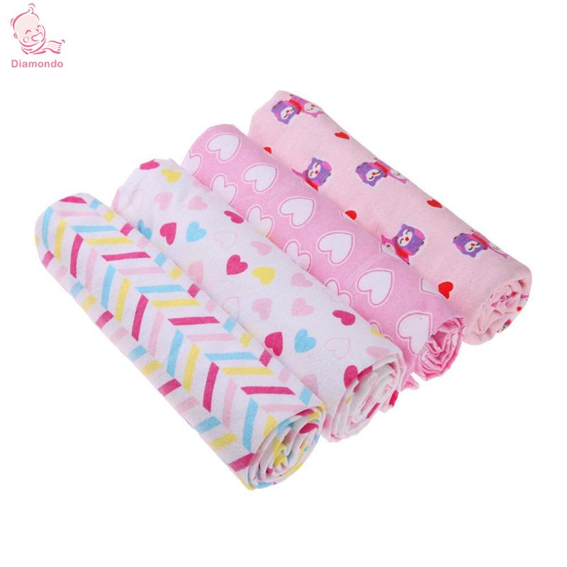 4Pcs Baby Blankets Newborn Cotton Cartoon Print Newborn Baby Swaddle Blanket Supersoft Bedding Infant Towel Bedsheet Swaddlings