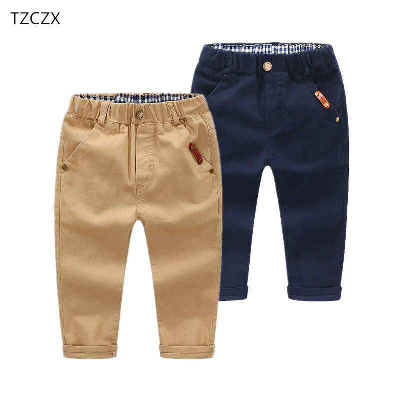 Children Pants Cotton Casual Elastic-Waist 3-10-Years-Wear Solid Regular for Promotion