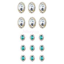 20 Pieces Charms 3D Rhinestone Crystal Alloy Decoration Nail Art Tips  Sticker 5d0b02fe9591