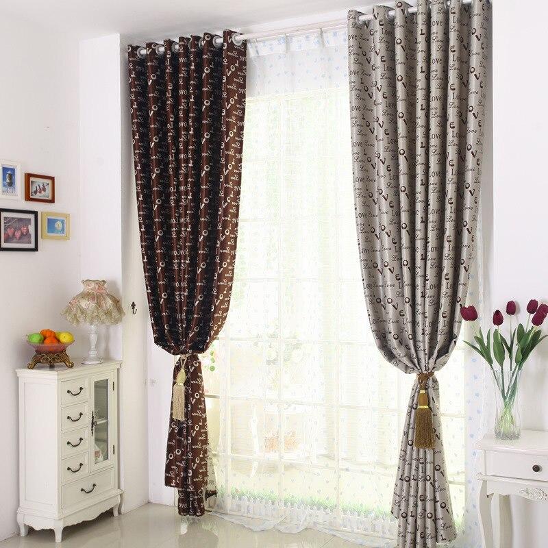 Neue Europische Stil Englisch Buchstaben LIEBE Doppel Seiten Voller Schattierung Tuch Vorhang Wohnzimmer Schlafzimmer Kinderzimmer Vorhnge