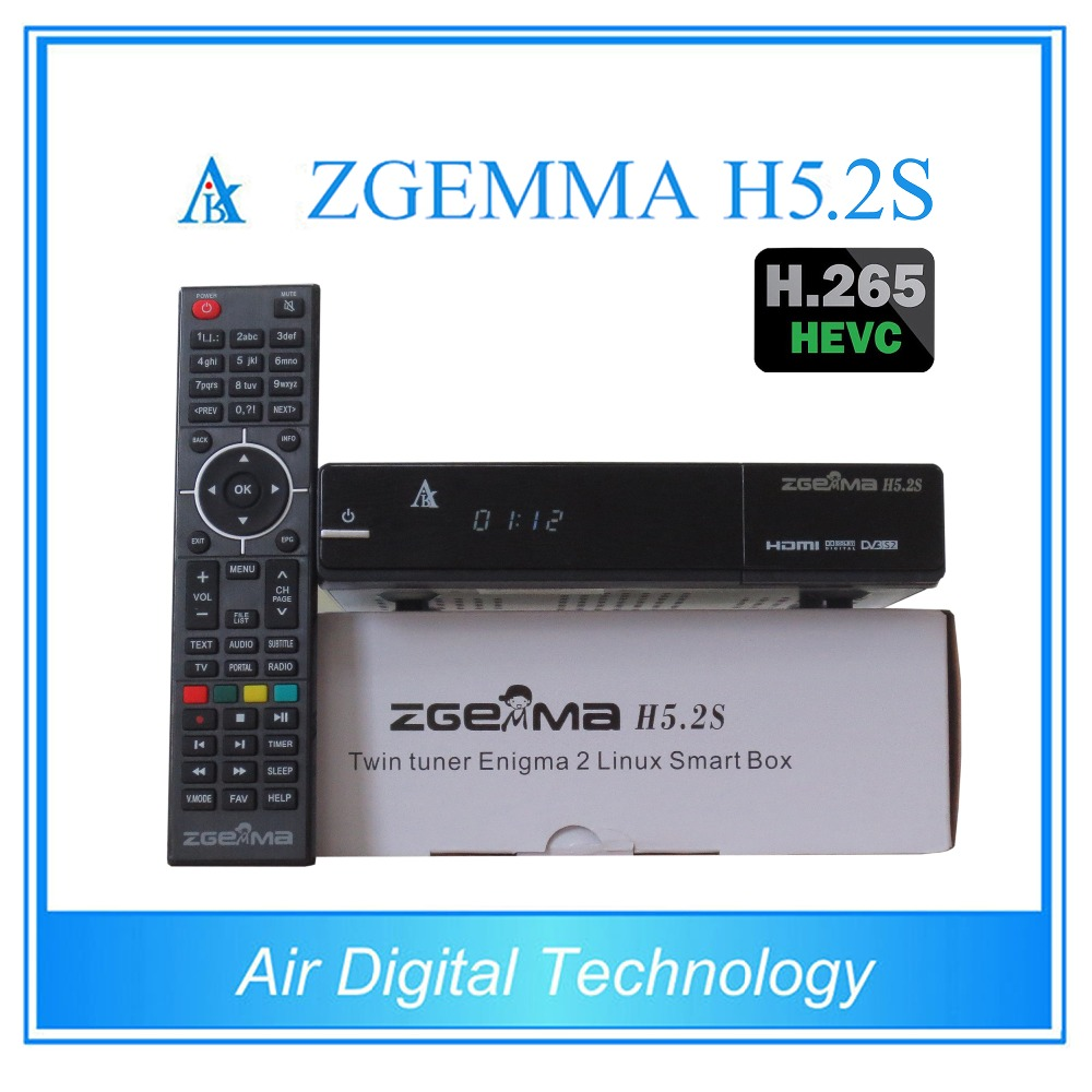 20 pcs/lot zgemma h5.2s newest Bcm73625 fastest running satellite tv receiver twin tuner dvb s/s2 support h.265 video decoding s930a hd dvb s s2 twin tuner nagra 3 satellite receiver w wi fi black