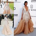 fashion luxury long evening dresses 2016 long sleeve low v neck appliques lace beaded  formal dinner dress for prom party