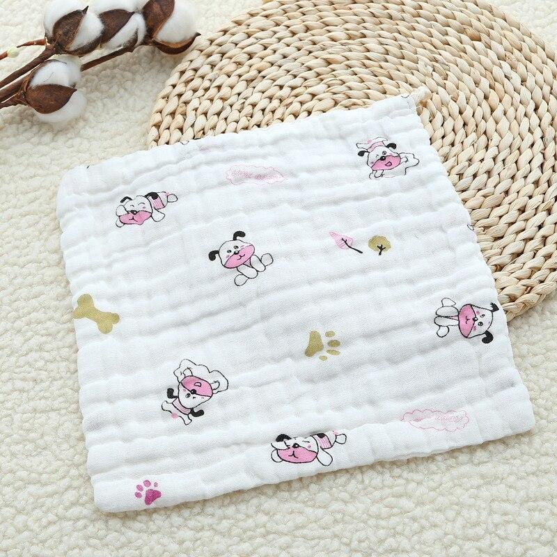 Six-layer Gauze Saliva Towel Cotton Square Towel Cartoon Printing Newborn Baby Wash Face Towel For Kids Children (4)