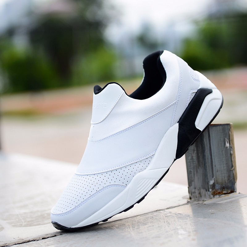 Sport Men Casual Shoes 2016 Fashion PU Leather Flat Leisure Men\'s Shoes Summer Breathable Low Top Shoes Slip On Trainers YD78 (17)