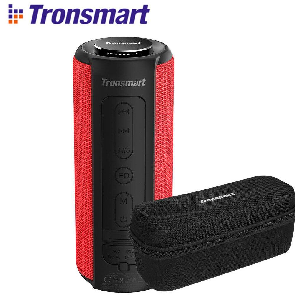 Tronsmart T6 Plus haut-parleur Bluetooth 40W Portable haut-parleur colonne basse profonde IPX6 étanche batterie externe fonction SoundPulse Siri