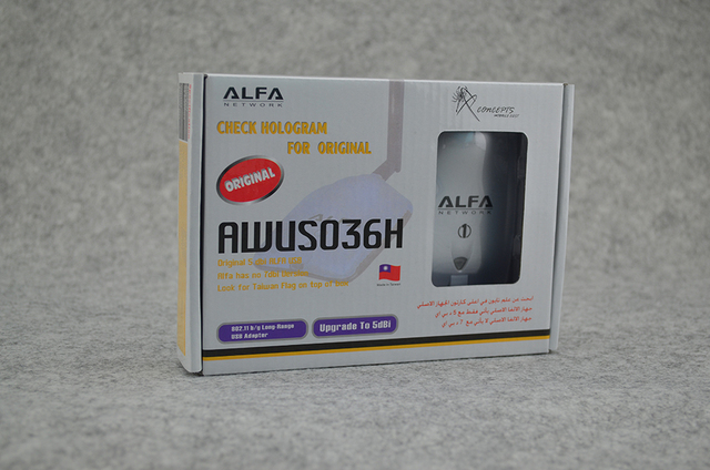 Alfa USB AWUS036H Realtek8187L Chipset 1000mW High Power Wireless N Adapter 54Mbps Wifi Network Card