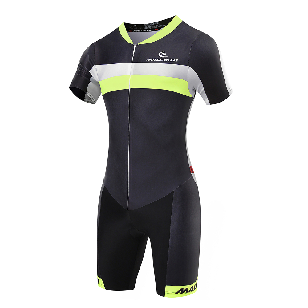 ФОТО MALCIKLO Summer cycling jersey Short Sleeve Cycling Skinsuit Fluorescent green Men Triathlon cycling Clothes free shipping