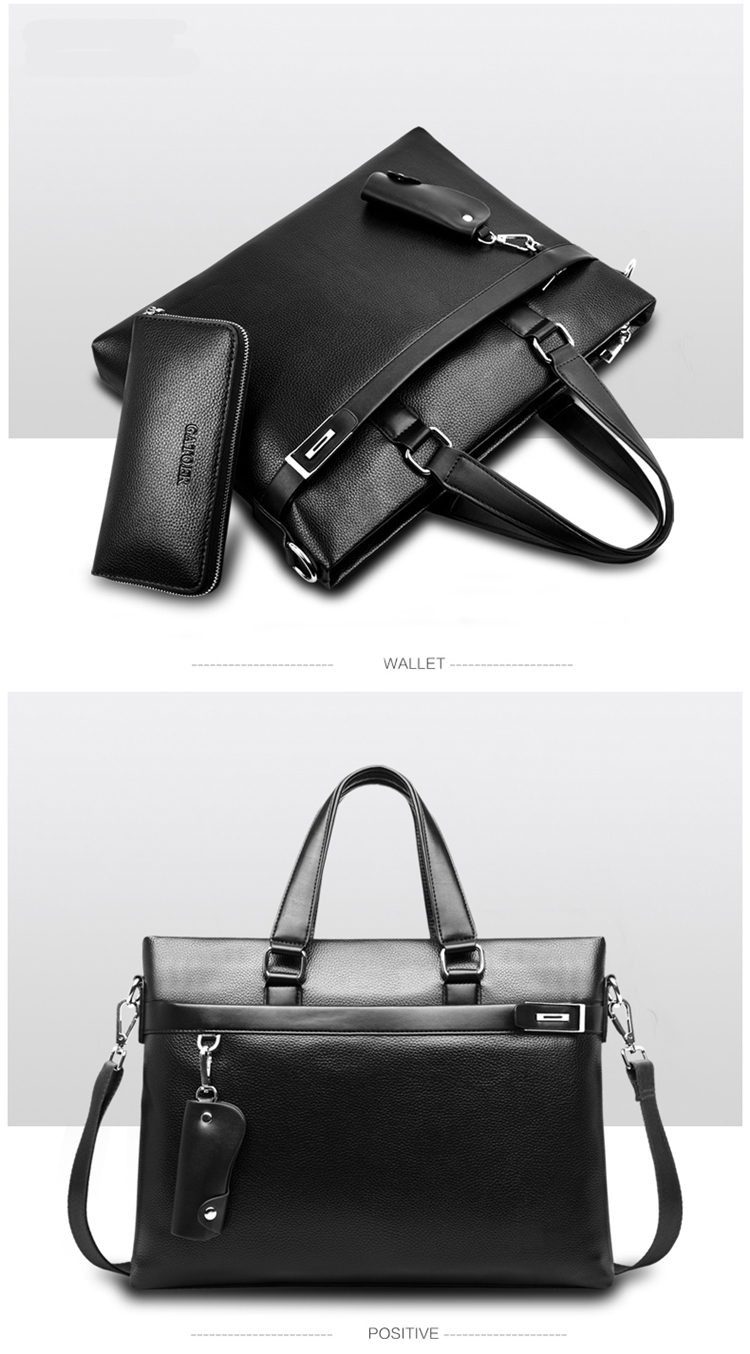 HTB1B9JcqsuYBuNkSmRyq6AA3pXat Promotions 2019 New Fashion Bag Men Briefcase PU Leather Men Bags Business Brand Male Briefcases Handbags Wholesale High Quality